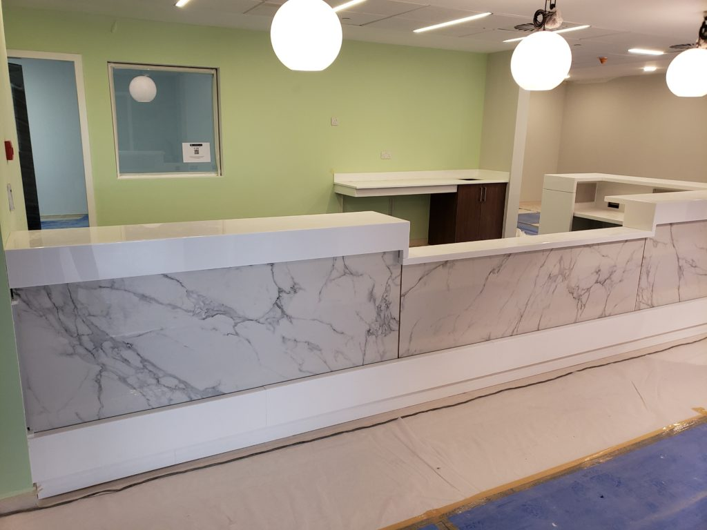 Hamilton Casework Reception Desks