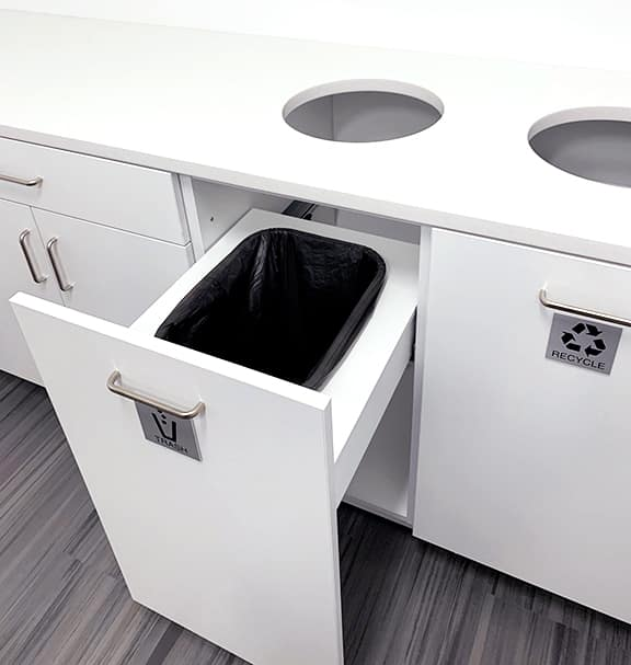 Recycle Station with Laminate Casework