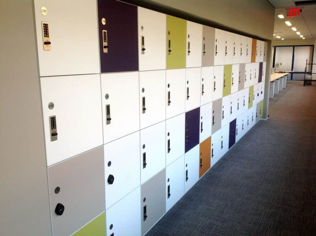 Day Use Lockers with ADA-Compliant Lockers and Locks.