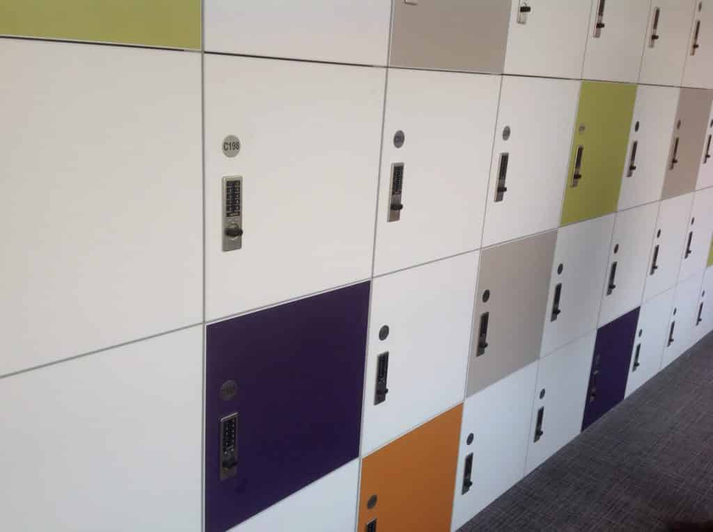 Colorful Laminate Locker for Office Environments
