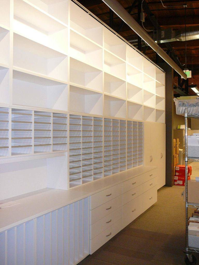 Modular Storage Wall - Agile Workplace Storage Wall - Drawers, Mail Sorter
