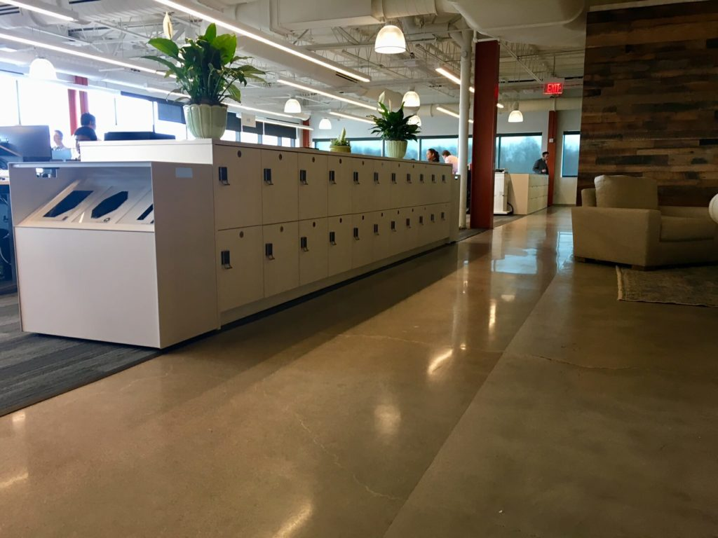 Laminate Workplace Lockers with Recycle Center
