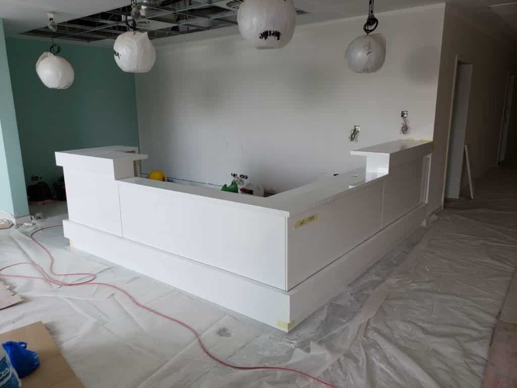Reception Desk Solid Surface Material