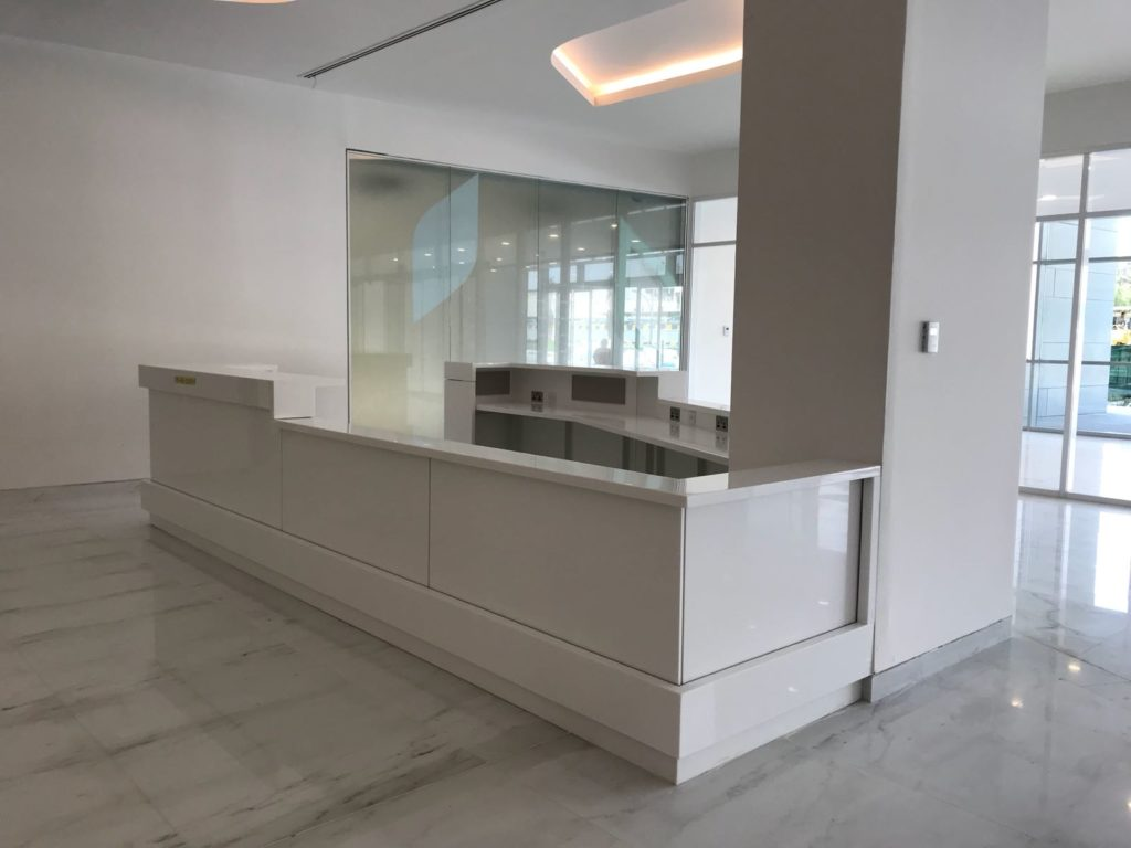 Modular Casework - Solid Surface Reception Desk