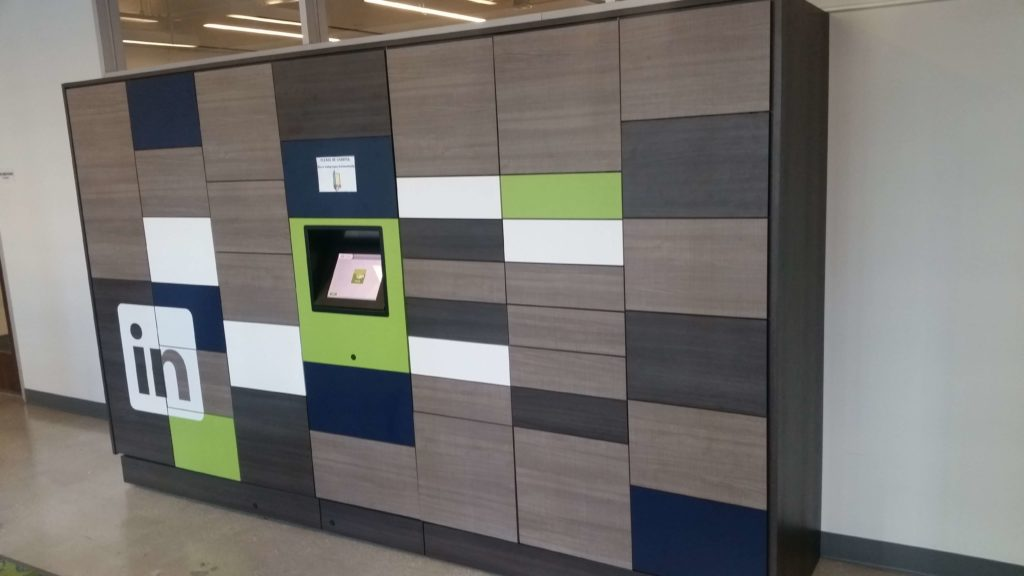 Smart Locker for corporate parcel delivery - amenities for workplace